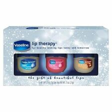 VASELINE 3pc Balm/Gloss LIP THERAPY Set/Lot ORIGINAL+ROSY+COCOA BUTTER New!