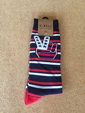 K.Bell America Peace socks mens size 6-12.5