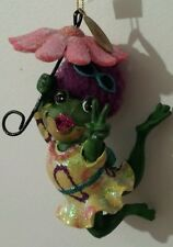 Katherine's Collection Christmas Ornament Peace Frog Groovy Hippie Flower Power*