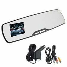 "HD 1080P 2.7"" LCD Car Camera Rearview Mirror Dash Vehicle DVR Video Recorder D4"