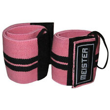 MEISTER PINK WRIST WRAPS W/ THUMB LOOPS - Elastic Support Weight Lifting Straps