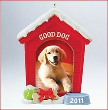 2011 Hallmark FAMILY Ornament GOOD DOG Photo Holder Dog House Pet