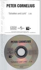 CD--PETER CORNELIUS--SCHATTEN UND LICHT--PROMO