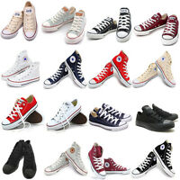 Converse Chuck Taylor All Star Low & Hi Sneakers Women Men Size Canvas Shoes