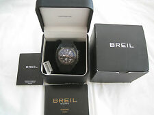 BREIL MILANO BLACK SWISS MADE WATCH BW0379 MEDITERRANEO CHRONO CARBON FIBER-NIB