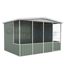 Absco Gable Roof Aviary 3m x 2.2m Colorbond Coop Wide Mash Cage 30 Yr Warranty