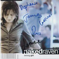 "Naked Raven Autogramme signed CD Booklet ""Wrong Girl"""