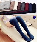 Women Girl Winter Warm Braided Thigh High Over Knees Long Stockings tights Socks