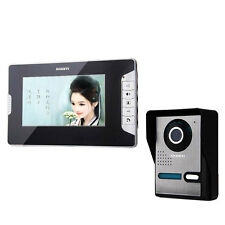 "Wired 7"" LCD TFT Video Door Phone Doorbell IR Camera Monitor Home Security US"
