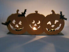 Metal 3 Pumpkins Jack O Lantern Tea Light Votive Holder Halloween Decoration New