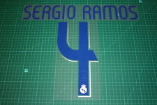 Real Madrid 06/07 #4 SERGIO RAMOS Homekit Nameset Printing