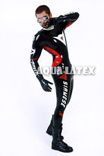 Custom Moto Suit Man Rubber Bodysuit Latex Costume Manly Catsuit