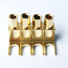 4x Spade Banana plug Copper Mcintosh #V Amp Eico tube Adapter Gold plate New