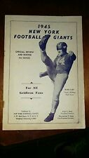 1945 New York Giants Review and Roster Media Guide RARE Football