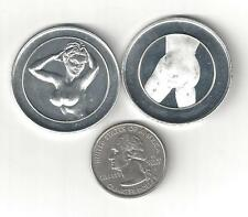 NUDE BUSTY Sexy Lady Women Erotic Risque HEADS TAILS FLIP PEEP SHOW Coin Token