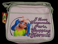The Muppets MISS PIGGY Messenger bag Cross body flight bag Fun gift Pink New