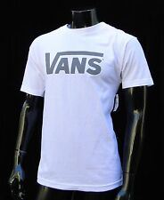 Vans Skateboard Co. Classic Logo White/Gray Mens T shirt Size Large