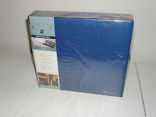 Plaid Scrapbook Album storage box DELUXE!!! Dark Blue Fabric-Paintable 8x8