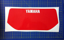 Yamaha xt600 43 f 83/86 tabella moto nera - adesivi/adhesives/stickers/decal