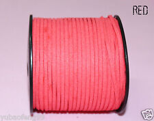 10yd Wholesale RED Price 3mm  Suede Leather String Jewelry Making Thread Cords