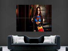 Megan Fox SUPERGIRL SUPERMAN Hot Sexy Girl mur grande image poster géant