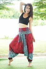 Harem Aladdin Casual Trouser Boho Baggy Men Woman Yoga Indian Hippie Gypsy Pants