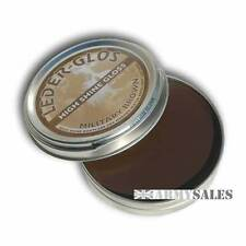 Leder Glos High Shine Gloss BROWN 40g Tin - Boot Treatment / Polish