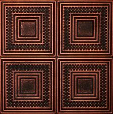 Decorative Ceiling Tiles Styrofoam 20x20 R11 Black Copper Painted