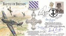 JS(CC)89 60th Anniv Battle of Britain Signed J G Sanders & 7 Battle of Britain