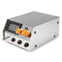 Professional Stainless Steel Dual LCD Digital Flat Tattoo Machine Power Supply