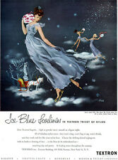 Fred Siebel Textron Lingerie SLIP GOWN Ice Blue Loveliness WINTER 1948 Print Ad