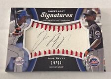 2008 UD Sweet Spot Signatures AUTHENTIC AUTOGRAPH Jose Reyes 19/27 METS