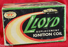 Vintage 1950s LLOYD REPLACEMENT IGNITION COIL Box - cool and colorful - LOOK