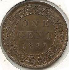 1898-H HIGH-END ALMOST UNCIRCULATED, red & brown, Canadian Large Cent -BEAUTIFUL