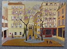 Carte postale RODOLPHE ROUSSEAU Place FURSTENBERG peinture naive