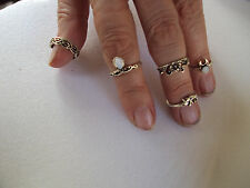 5PC/Set Women digit rings Punk Vintage Knuckle Rings Tribal Ethnic Hippi DS-4027