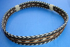 "Western Cowboy/Cowgirl HAT BAND Woven 7 Strand Horsehair 7/8"" Wide"