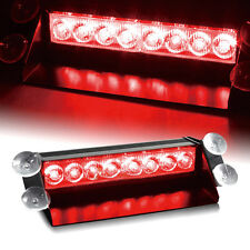 8W Car 8 Led Wind Dash Strobe Emergency Flash Warning Visor Light Lamp Red Red