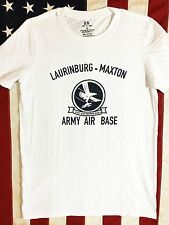 WWII Army Air Base Laurinburg Maxton PT Repro Shirt w Spec Tag, Mens size S - XL