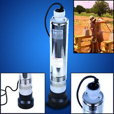 """New Industry 4"""" Deep Well Pump S/S Submersible Sump Pump 110v 1/2HP 27 GPM"""