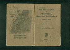 Wilh. Seytter's Schulkarte Württemberg Baden Hohenzollern 1913 auf Leinen 12 Seg