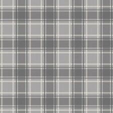 I Love Wallpaper Tartan Designer Feature Wallpaper Soft Grey / Charcoal
