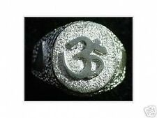 LOOK New Sterling Silver .925 Ring Hindu OM symbol AUM Yoga Detailed Jewelry Hin