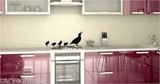 Quail family decal set in 5 colors
