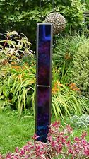 Black Iridescent Stained Glass Stainless Steel Garden ornament sculpture