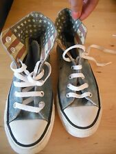 CONVERSE ALL STAR BASEBALL BOOTS TRAINERS HIGH TOPS UK 4 WOMANS DENIM USA FLAG