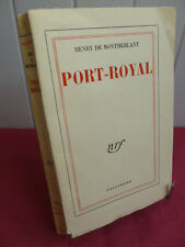 PORT-ROYAL ( notes de Théatre ) Henry de Montherlant
