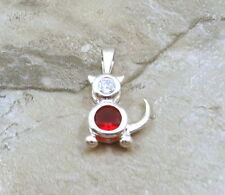 Sterling Silver July Birthstone CAT Charm with Bail  - 0910