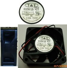 Lot10pk/pcs Ball Bearing 60mm*25mm T&T 6025M12B-ND3 12VDC/12V Fan 2wire tinned