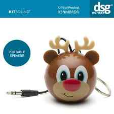 Kitsound Mini Buddy Portable Speaker Rechargeable Usb Cable KSNMBRDR REINDEER